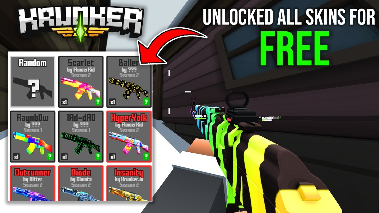 Krunker.io Unlock All Skins