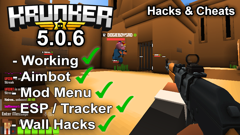 Krunker.io Hacks & Cheats 5.0.6